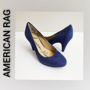 American Rag Suede Blue Heel Size 6M